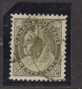 Canada #84 VF Used & Dated