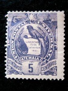 GUATEMALA - SCOTT# 33 - MH - CAT VAL $37.50 (1)