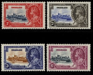 SWAZILAND GV SG21-24, SILVER JUBILEE set, VLH MINT.