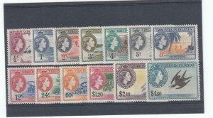 VIRGIN ISLANDS # 115-127 VF-MVLH QE11 ISSUES