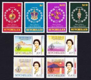 Seychelles Silver Jubilee 8v SG#393-400 SC#380-387