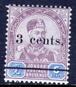 Malaya (Johore)  - Scott #28 - MNH - SCV $4.00