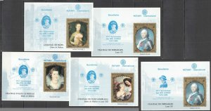 G0844 CHAD ART PAINTINGS !!! RARE OVERPRINT SCOUTING GIRL GUIDES ROTARY 5BL MNH