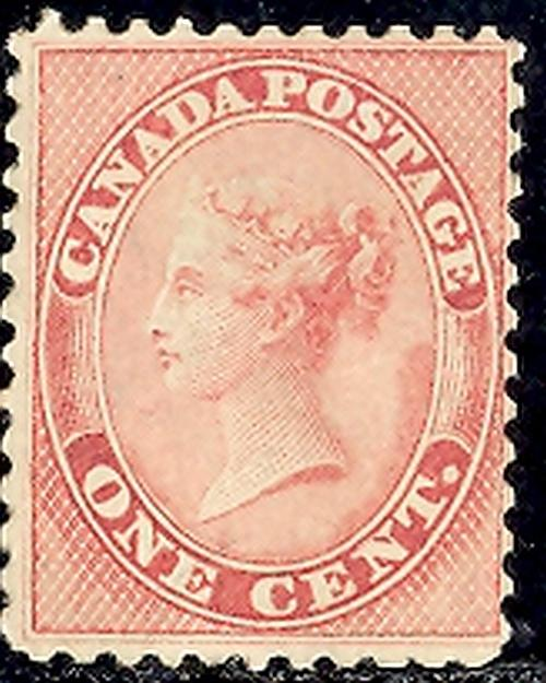 Canada #14 Mint  VF  with certificate   -   Lakeshore Phi...