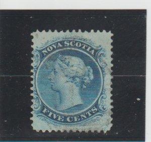 Nova Scotia  Scott#  10  Used  (1860 Queen Victoria)