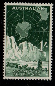 Australian Antarctic Sc L3 1957 1/ Dog Sled & Glacier stamp mint NH