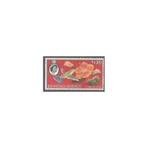 Trinidad & Tobago 101,MNH.Michel 185. Copper-rumped hummingbird,Hibiscus,1960.