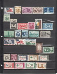 84 DIFFERENT US MNH 4 CENT COMMEMORATIVE STAMPS FROM 1957-1962 2017 SCV $21.00