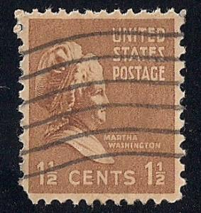 805 1 1/2 cent Martha Washington Stamp used VF