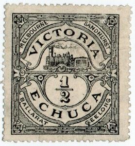 (I.B) Australia - Victoria Echuca Railways : Parcel ½d