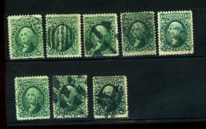 US #68(6) 68a(2) Used FVF Cat$500