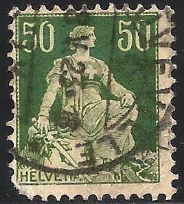 Switzerland 1908 Scott# 139 Used (corner)