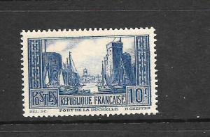 FRANCE  1929-33  10f  BLUE  MNH     SG 474a  Sc 252