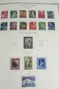 Liechtenstein Nearly All Mint Stamp Collection in Scott Album
