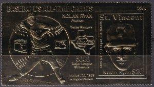 St Vincent #1276hz MNH Gold Special Stamp (Z3331)
