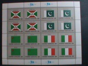 UNITED NATION-1984 SC#425-428 U. N. FLAGS SERIES MNH FULL SHEET- VERY FINE