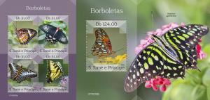 Z08 ST190308ab Sao Tome and Principe 2019 Butterflies MNH ** Postfrisch