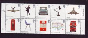 Great Britain Sc 2624a 2009 British design stamp block of 10 mint NH