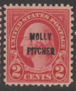 U.S. Scott #646 Molly Pitcher Overprint - Washington Stamp - Mint NH Single