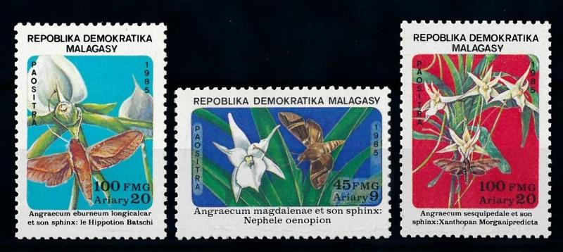 [70744] Madagascar 1985 Insects Butterflies From set MNH