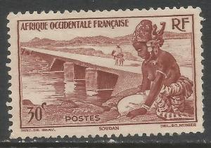 FRENCH WEST AFRICA 37 MNG Z7967