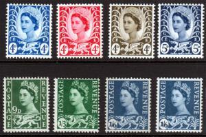 GB QEII Wales Regional Mix Mint Hinged