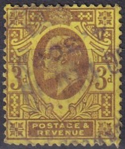 Great Britain #132  F-VF Used CV $19.00 (Z1851)