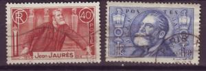 J16249 JLstamps 1936 france set used #313-4 jaures