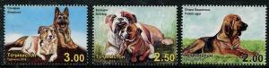 HERRICKSTAMP NEW ISSUES TADZHIKISTAN Sc.# 432-34 Dogs 2014
