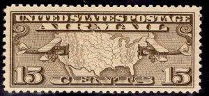 US Stamp #C8 15c Olive Brown MINT NH SCV $4.75