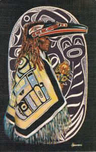 United States 1963 Post Card Ward Cove, Native Alaska Indian Culture Color Card