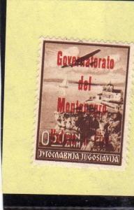 MONTENEGRO 1942 POSTA AEREAVAIR MAIL SOPRASTAMPATO IN ROSSO RED OVERPRINTED V...