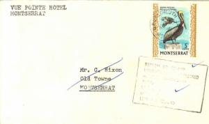 Montserrat 5c Brown Pelican 1970 G.P.O. Plymouth, Montserrart to Old Towne wi...