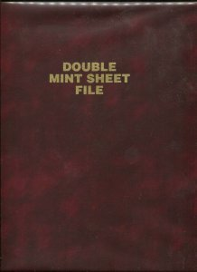 Sheet File 14 Glassine Double Page Divided 9x11½ Vinyl Cover Holds 28 Sheets