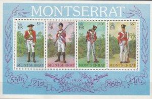 Montserrat MNH S/S 396a Military Uniforms 1978