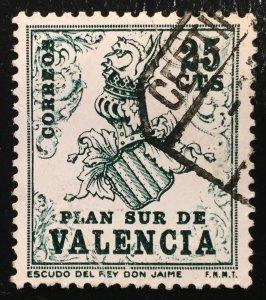 Spain Plan Sur de Valencia 25 CTS January 15, 1963 (Used)
