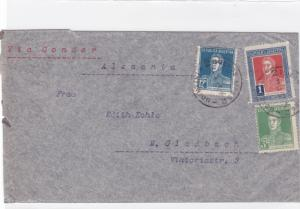 argentina 1935 air mail via condor stamps cover ref r16123