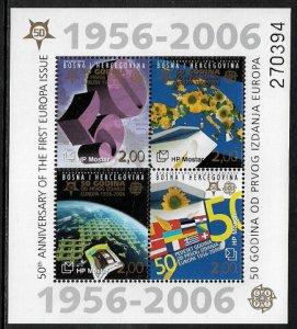 Bosnia, Croat #151e MNH S/Sheet - Europa Stamps 50th Anniversary (d)