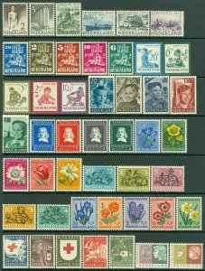 EDW1949SELL : NETHERLANDS Nice Semi-Postal collection of ALL DIFF MOG CPLT SETS