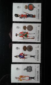 Gibraltar #299-302 MNH uniforms e1812.2985