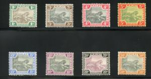 FEDERATED STATES OF MALAY TIGER SET SCOTT#18a/25b, GIBBONS#15a/22a  LH OG