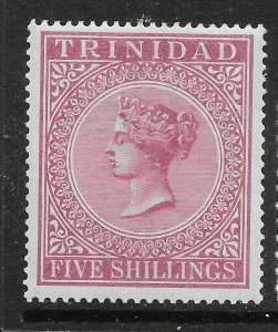 TRINIDAD SG113 1894 5/= MAROON MTD MINT