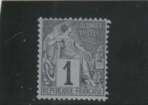 French Colonies  Scott#  46  MH  (1881 Commerce)