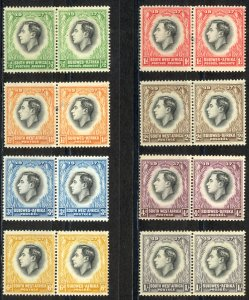 South West Africa Sc# 125-132 MH 1937 King George VI