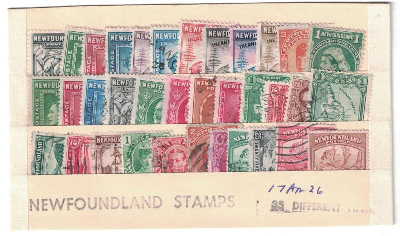Newfoundland #  35 Used different including  4 revenue stamps