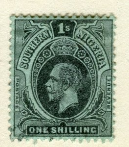 SOUTH NIGERIA; 1912 early classic GV issue fine used 1s. value
