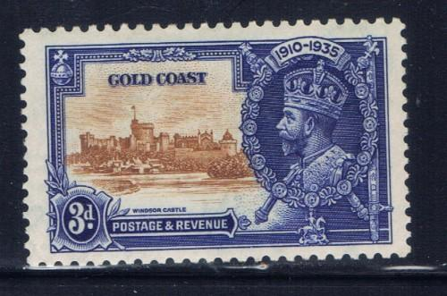 Gold Coast 109 Hinged 1935 KGV Silver Jubilee