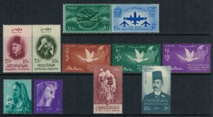 Egypt #407a,409a, 410-4,18-9*  CV $6.35