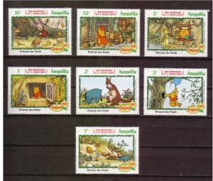 Disney - Anguilla -1992 - Christmas - 7 Singles MNH
