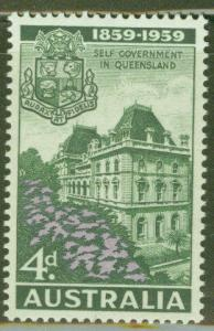 Australia Scott 333 MH* 1959 Parliament stamp